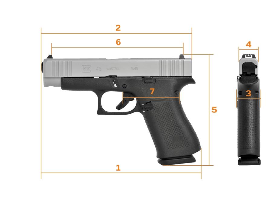 Glock 48 Pistole mit schlankem Griff zum Führen